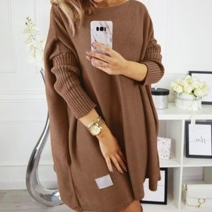 Dresses & Skirts - JUST IN ! Oversized Batwing Sleeve Sweater Dress